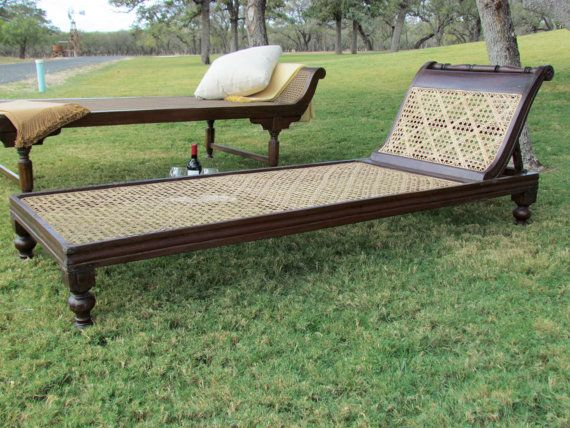 Antique British Colonial Rosewood and Cane Daybed Chaise Lounge - Antique British Colonial Rosewood And Cane Daybed Chaise Lounge
