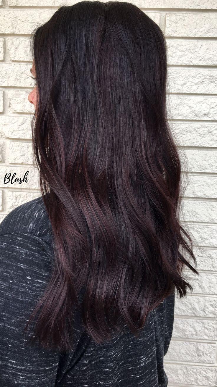Mauve Mocha Brunette Maroon Balayage Blush On The Blvd Matrix Color Sync Fall Hair Cassandra Speer Fallhaircolor Mocha Hair Hair Styles Mocha Color Hair