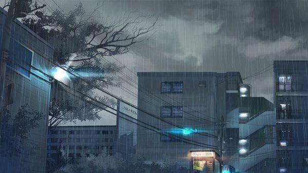 Anime Wallpaper Original Gom Jabbar Wide Image Sky Glowing City 1280x720 255320 En Anime Scenery Anime Background Anime Places