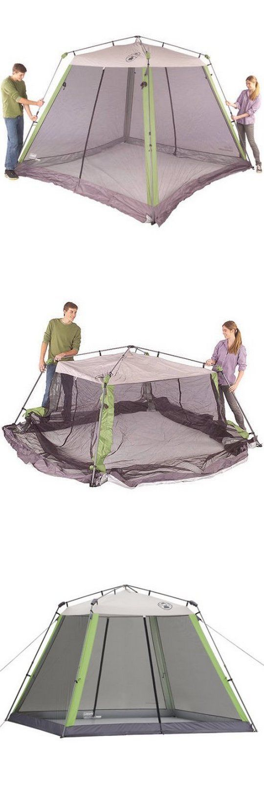 Canopies and Shelters 179011 Coleman 10 X10 C&ing Instant Screen House Tent Shelter Canopy W  sc 1 st  Pinterest & Canopies and Shelters 179011: Coleman 10 X10 Camping Instant ...