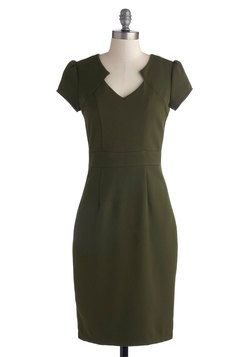 Work the Right Angle Dress in Olive, #ModCloth