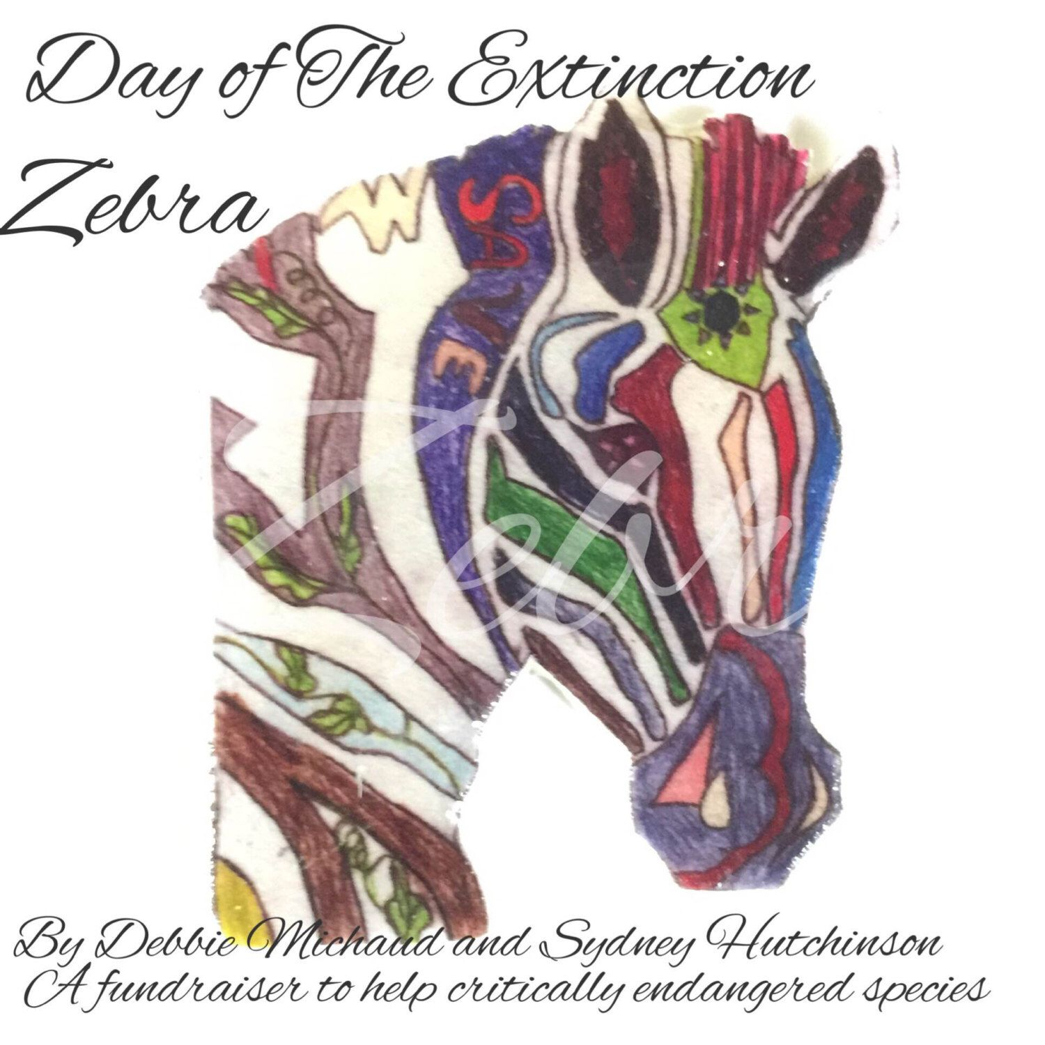 Day of the Extinction  Zebra Cabochon by SweetBananaberry on Etsy https://www.etsy.com/listing/228653963/day-of-the-extinction-zebra-cabochon