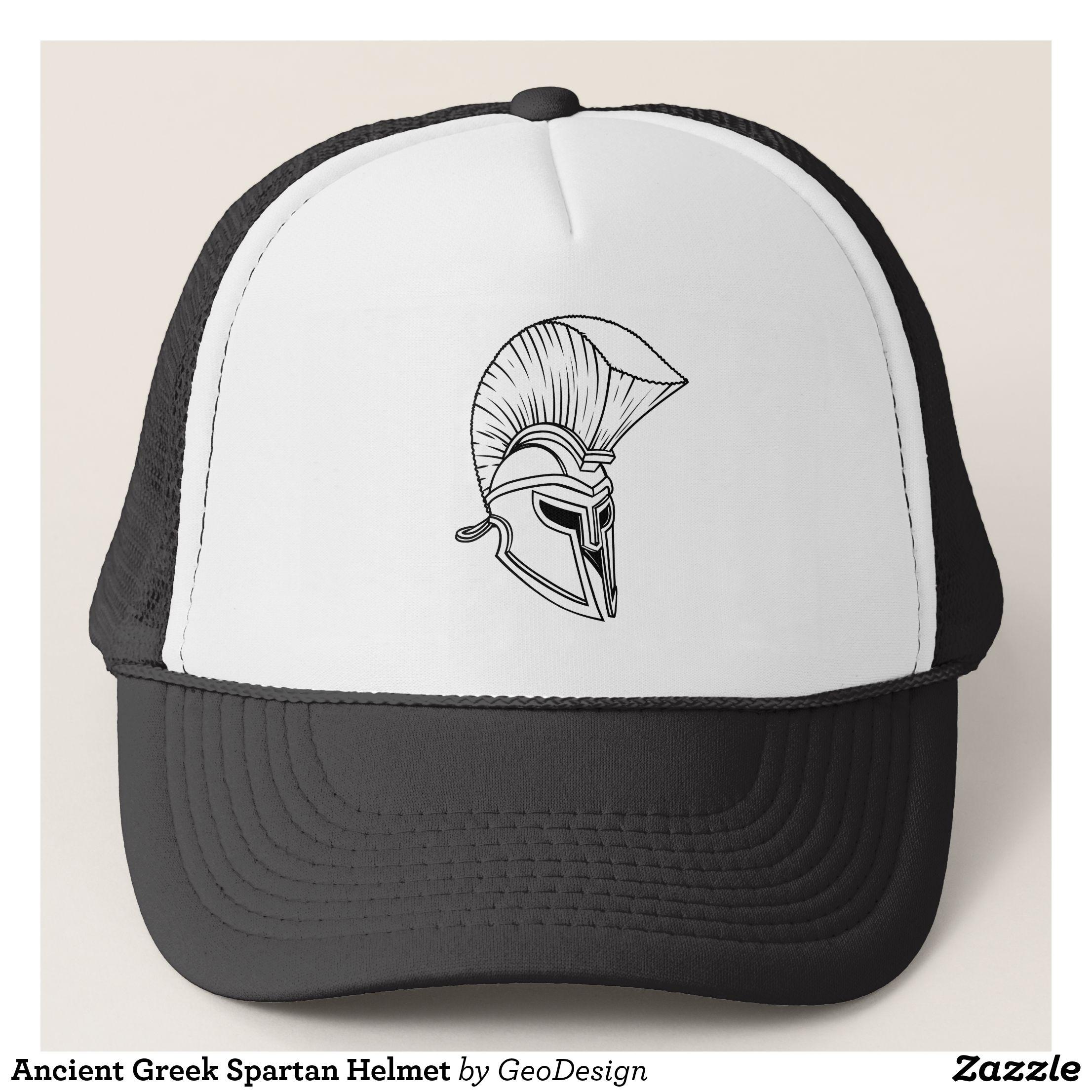 size 40 476dc a7724 Ancient Greek Spartan Helmet Trucker Hat - Urban Hunter Fisher Farmer  Redneck Hats By Talented Fashion And Graphic Designers -  hats  truckerhat  ...