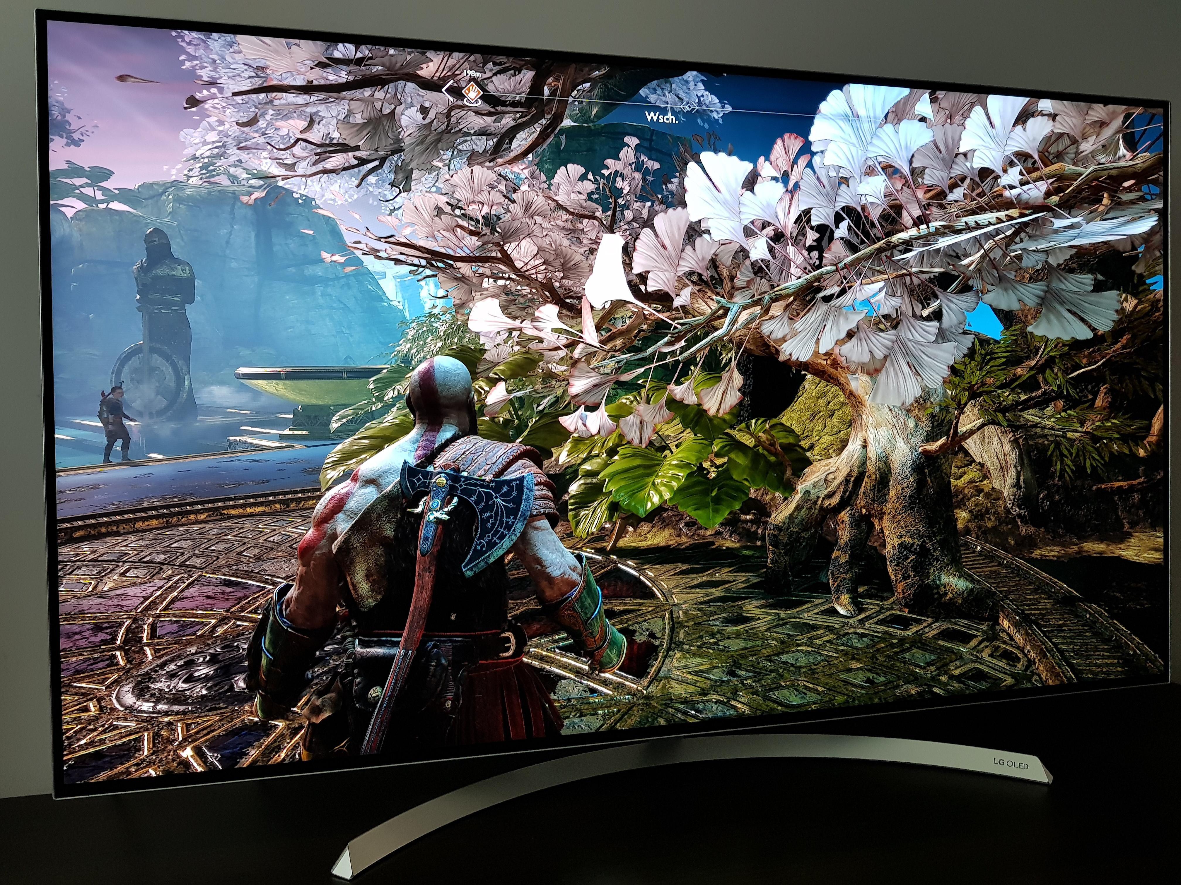 God of War on OLED TV looks insane