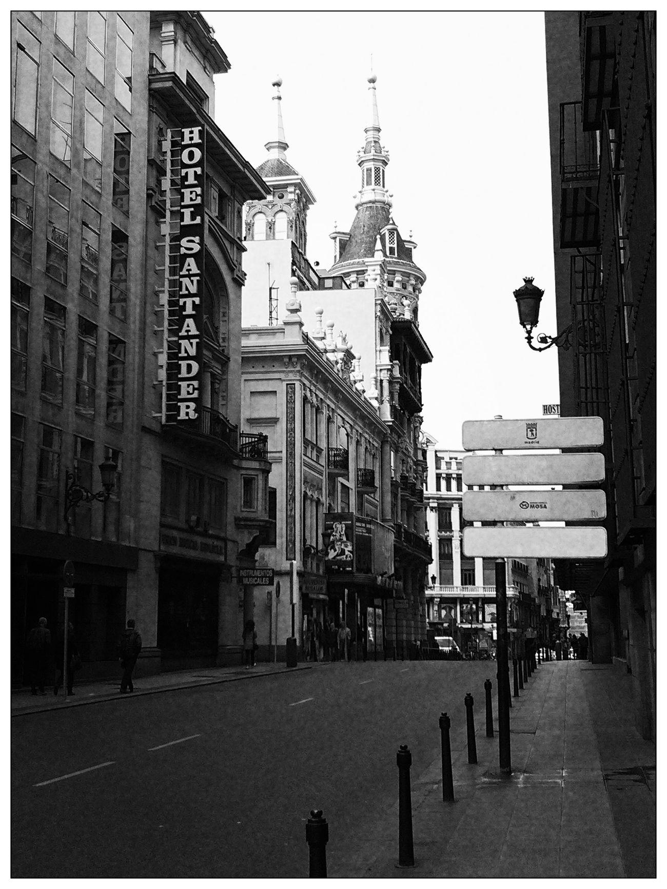 A romantic street of Madrid
