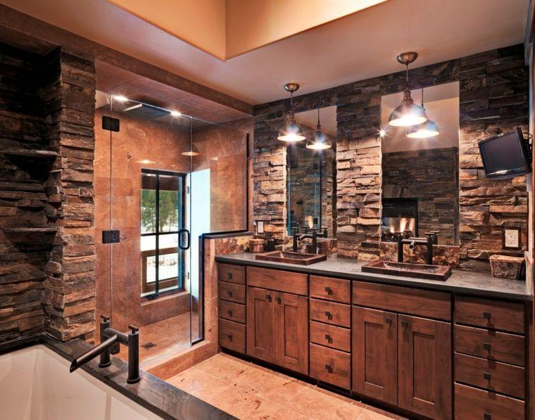 Lavabos rusticos - paz y relax en el cuarto de baño - - lavabos rusticos
