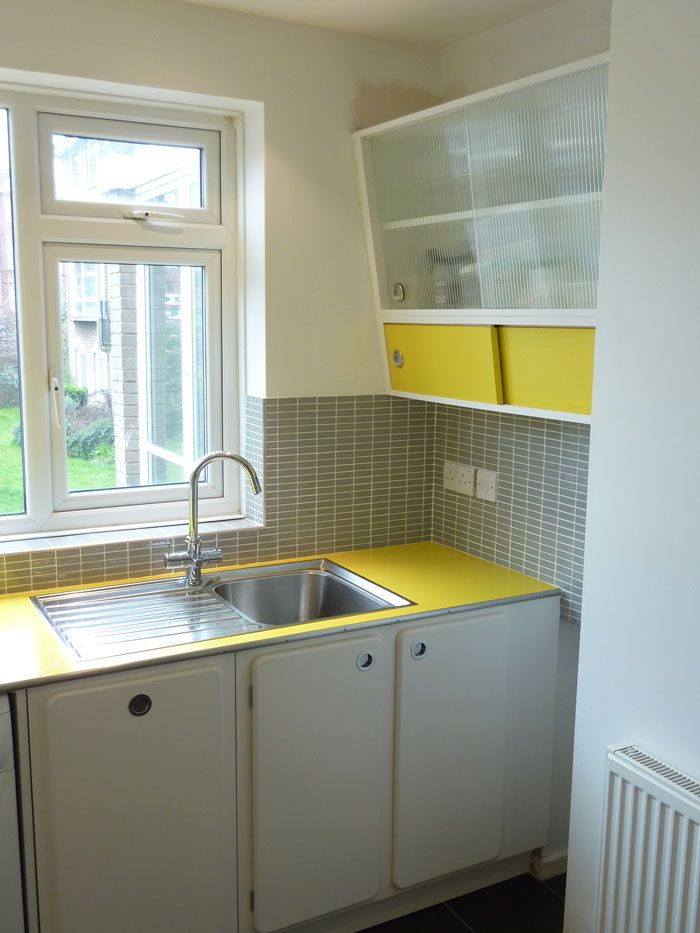 custom built retro 50\'s kitchen with formica worktop by ...