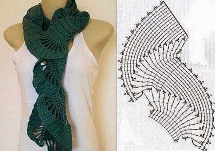 Tejido Facil: Patron: Bufanda al crochet enroscada y original ...