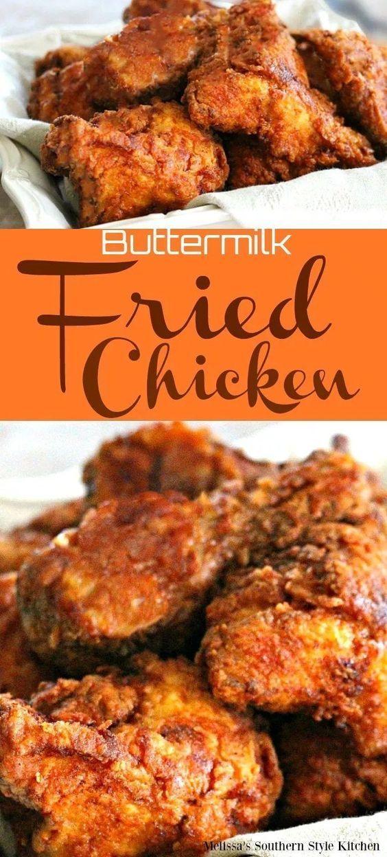 Buttermilk Fried Chicken In 2020 Chicken Wing Recipes Fried Cooking Fried Chicken Buttermilk Fried Chicken