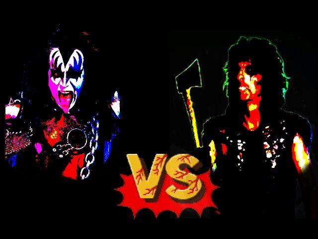 Metal Fighter Video Game Gene Simmons Vs Alice Cooper Kiss