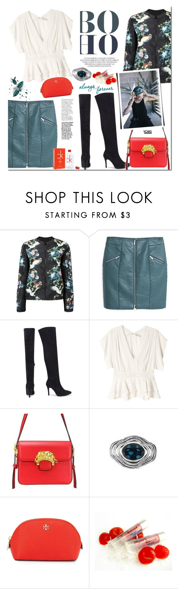 """""""Yoins.com"""" by mada-malureanu ❤ liked on Polyvore featuring MANGO, Rebecca Taylor, Tory Burch, Calvin Klein, vintage, women's clothing, women, female, woman and misses"""