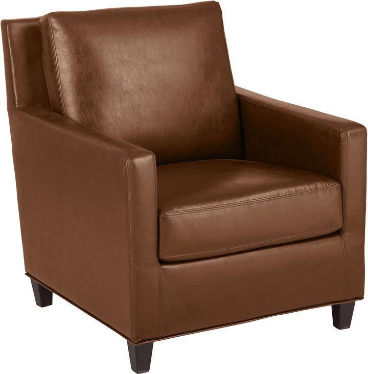 Pier 1 Imports Darren Saddle Brown Club Chair   Patio chair
