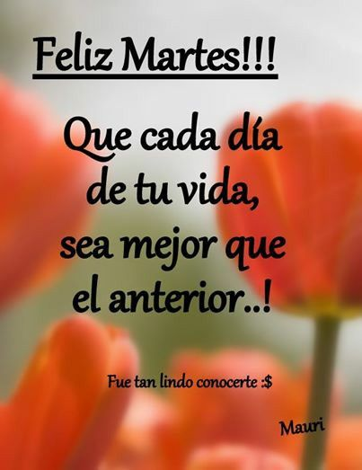 Feliz martes | feliz martes | Good afternoon, Morning wish ...