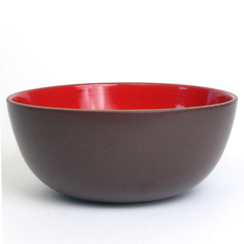 Heath Ceramics Large Serving Bowl Red U0026 Chocolate Brown Discontinued Color  Shape No. 108 New Production Brown Clay Wiped Edge Quart X In.