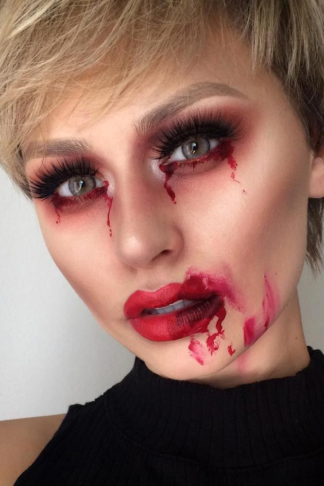 21 glam and sexy vampire makeup ideas 2018 mains essayer et projet - Maquillage halloween sexy ...