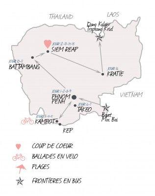 Deux semaines au Cambodge - Itinéraire - Blog voyage