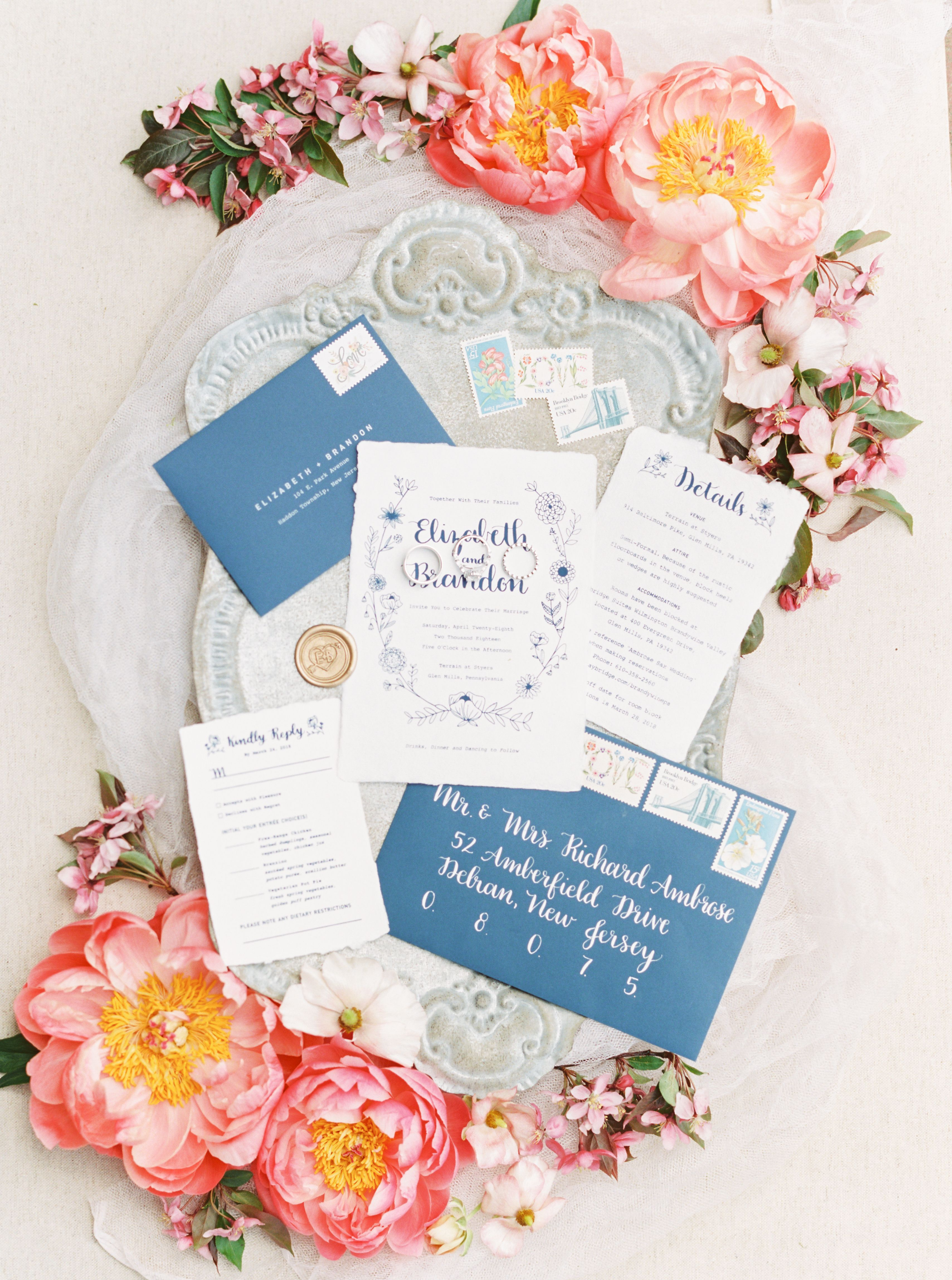 Wedding Invitation Suite by Liz Lettering Calligraphy