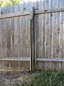 Broken Fence Post With Steel T Post Helper Post