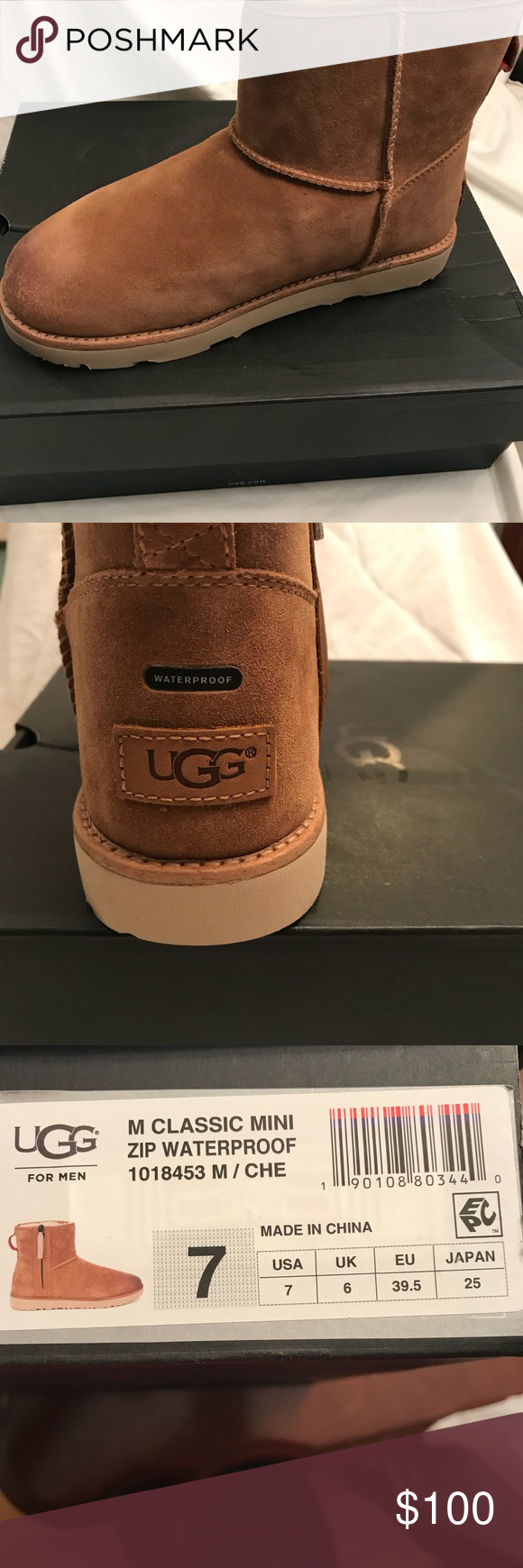 Brand New Ugg For Men Classic Mini Zip Boots Ladies You Can Wear