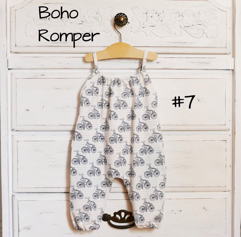PDF Pattern - Boho Romper - Babies/Toddlers - Premie to 5-6T ...