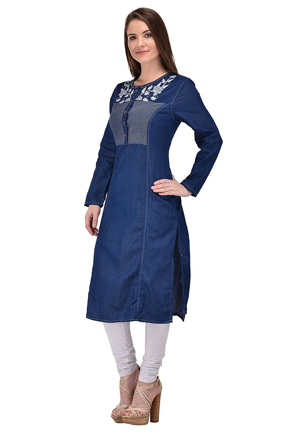 d0842e3e26f Style Souk Denim Kurti  Amazon.in  Clothing   Accessories