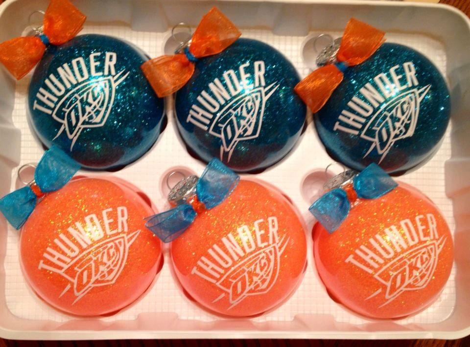 Okc Thunder Ornaments 12 00 Via Etsy