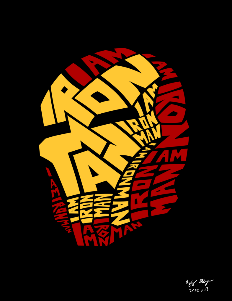 Iron Man Art | Iron Man Word Art by AzizDraws | Superheroes, Super ...