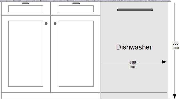 Built In Dishwasher Measurements Cm