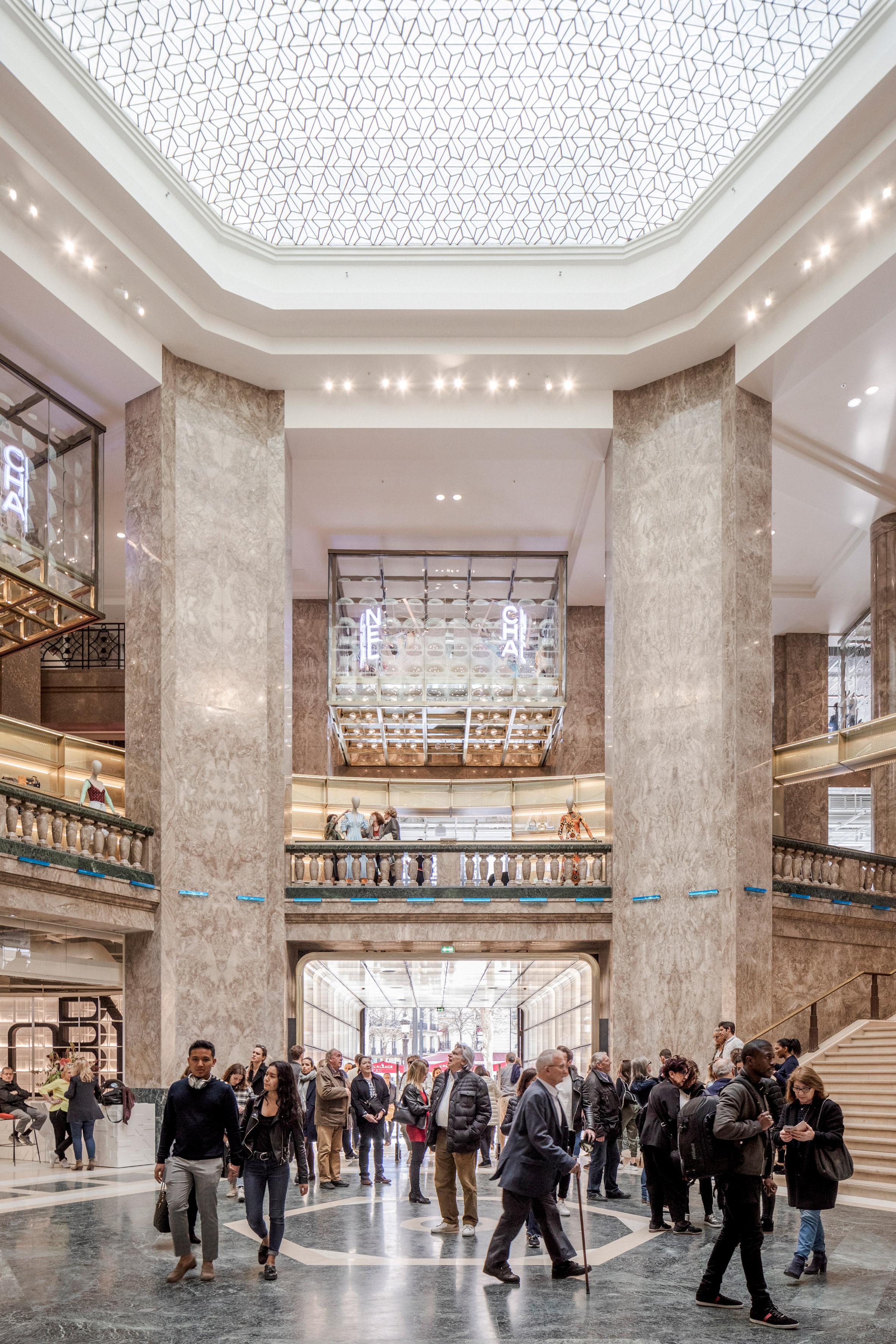 Big Completes Galeries Lafayette Store On Champs Elysees In Paris Paris Interiors Shop Interiors Champs Elysees