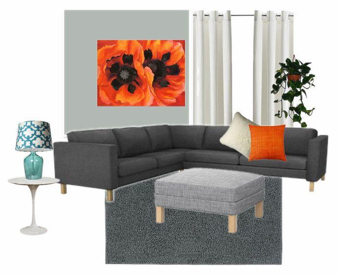 Blue, Orange And Gray Living Room 2. Description From Pinterest.com. I