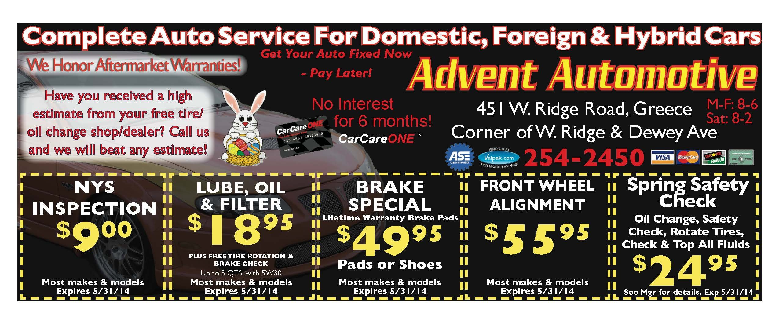 Advent Automotive Greece Auto Coupons of the Month