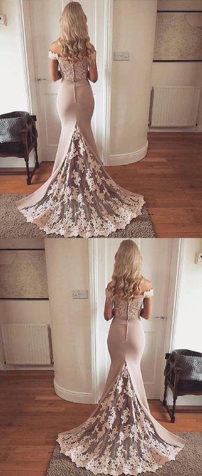 Outlet Comfortable Long Prom Dress, Evening Dresses Lace, Prom Dress Mermaid #lacebridesmaids