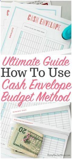 Cash Budget Envelope Method How To Use Cash Envelopes  Cash