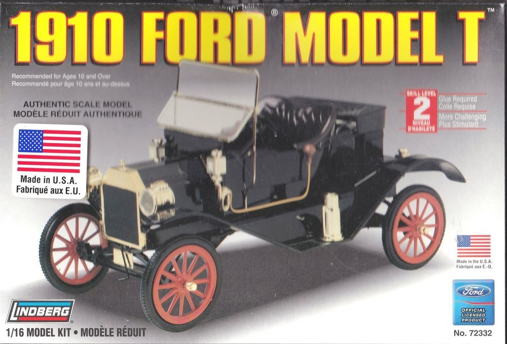 1910 Ford Model T Plastic Model Kit Scale 1 16th By Lindberg Item