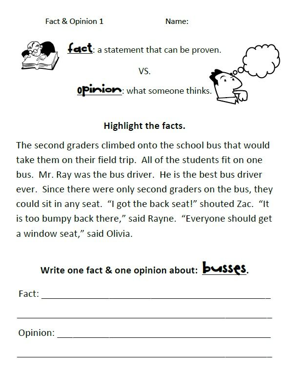 Simple Fact Vs Opinion Worksheets Educate Me Pinterest