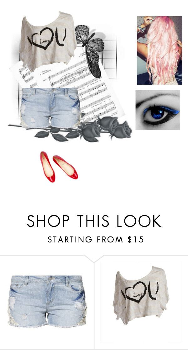 """Willkommen zurück Mariko ♥"" by demetris-princess ❤ liked on Polyvore featuring moda, Object y Christian Louboutin"