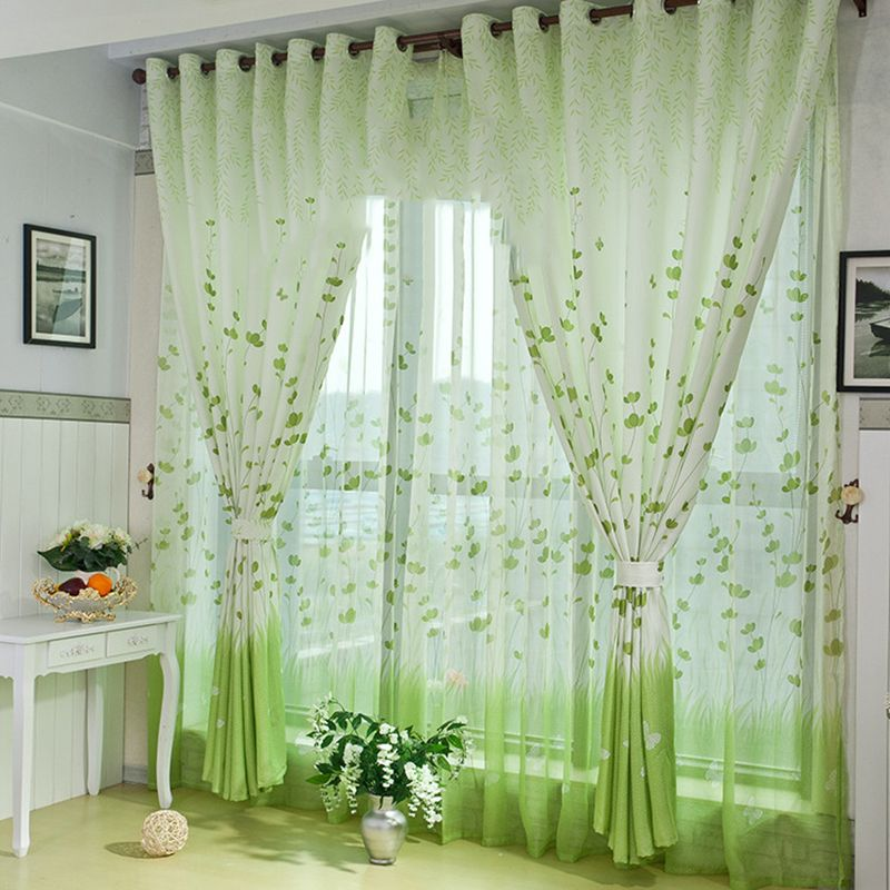 living room window valance ideas%0A      country style  d curtains elegant living room curtainsluxurious green  leaf curtains for children bedroom curtain