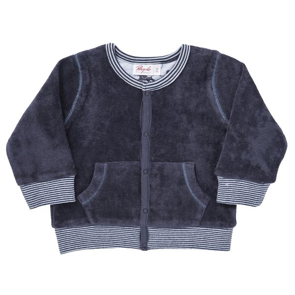 People Wear Organic Baby Nickyjacke Dunkelblau u. Taube Bio Baumwolle