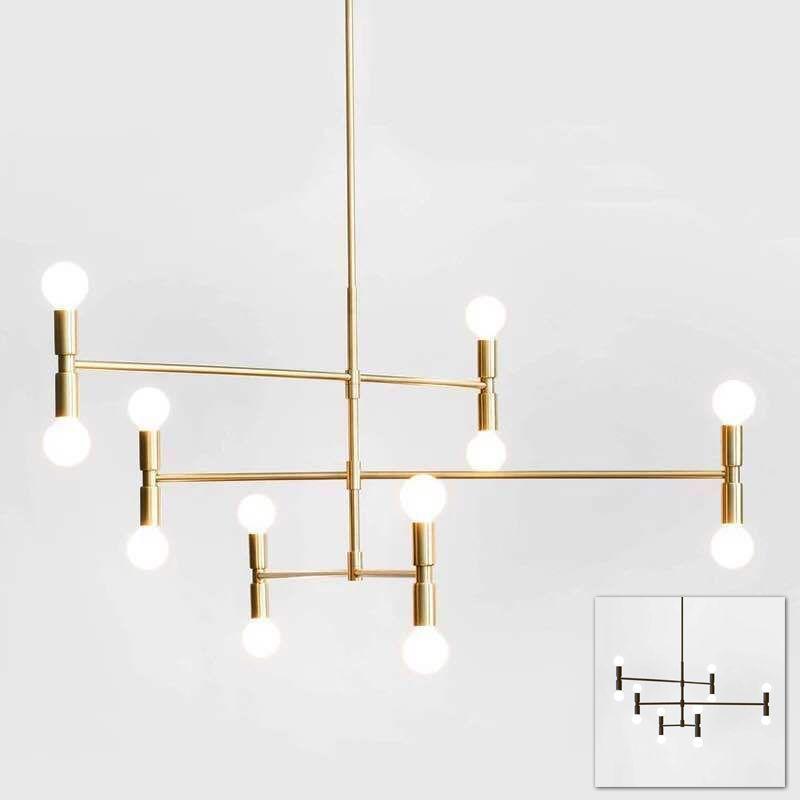 Goedkope Moderne lineaire lijn plafond kroonluchter licht draaibare ...