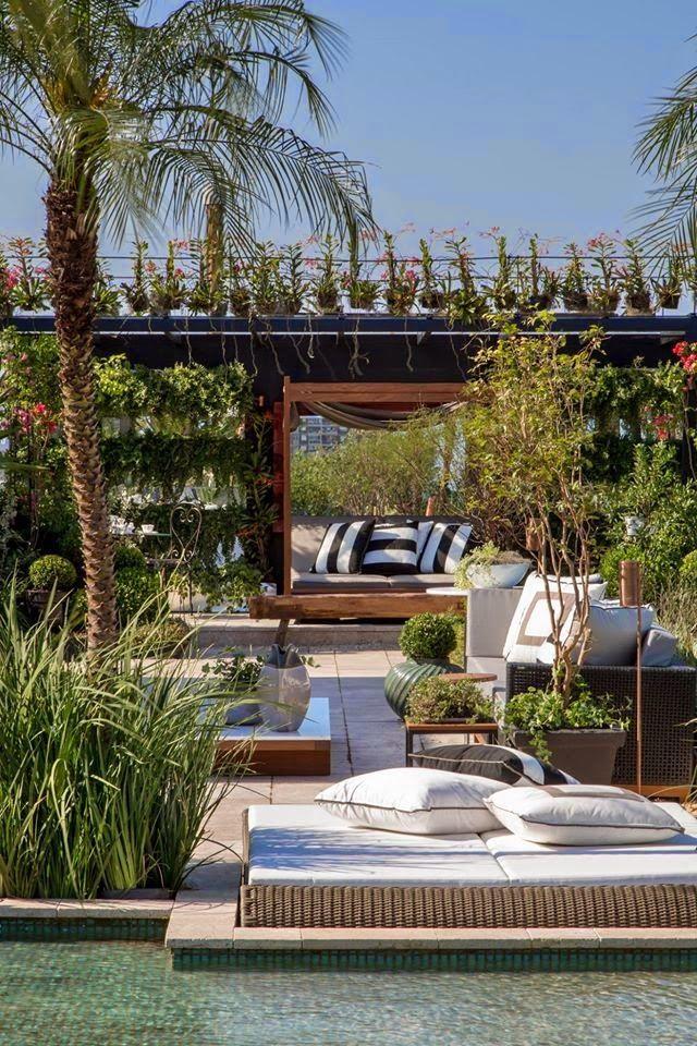 Modern, Moderner Garten, Garten, Terrasse, Lounge, Möbel ...
