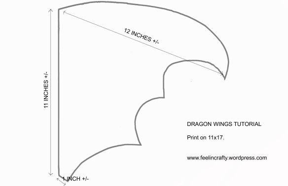 Drache Flugel Design Blatt No 02 Schwarz 14