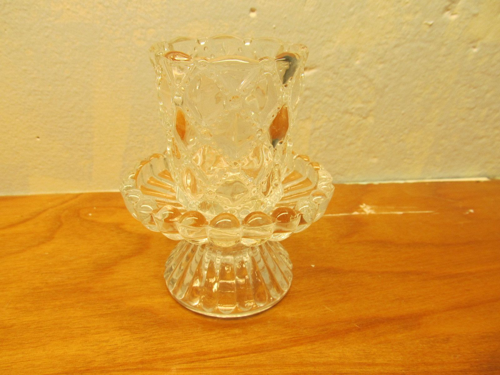 Vintage small lead crystal candle holder products