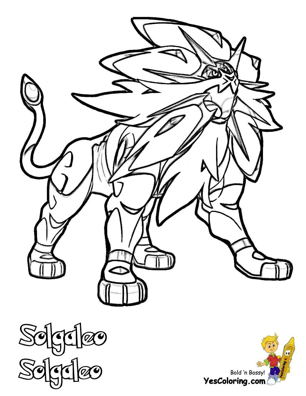 Solgaleo Pokemon Coloring Page Youngandtae Com Pokemon Coloring Pages Pokemon Coloring Page Pokemon Coloring