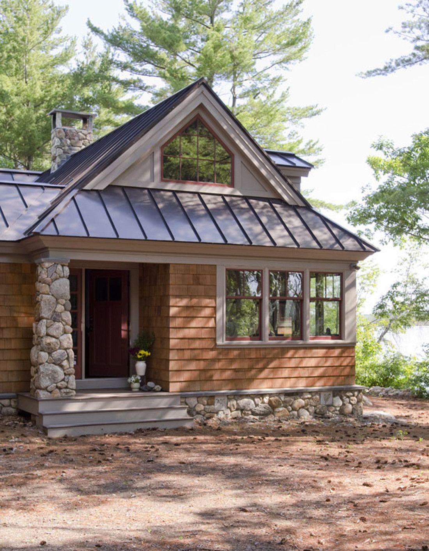 Maine Lakeside Home Olson Lewis Architects Small Lake Houses Lake House Plans Lakeside Cabin