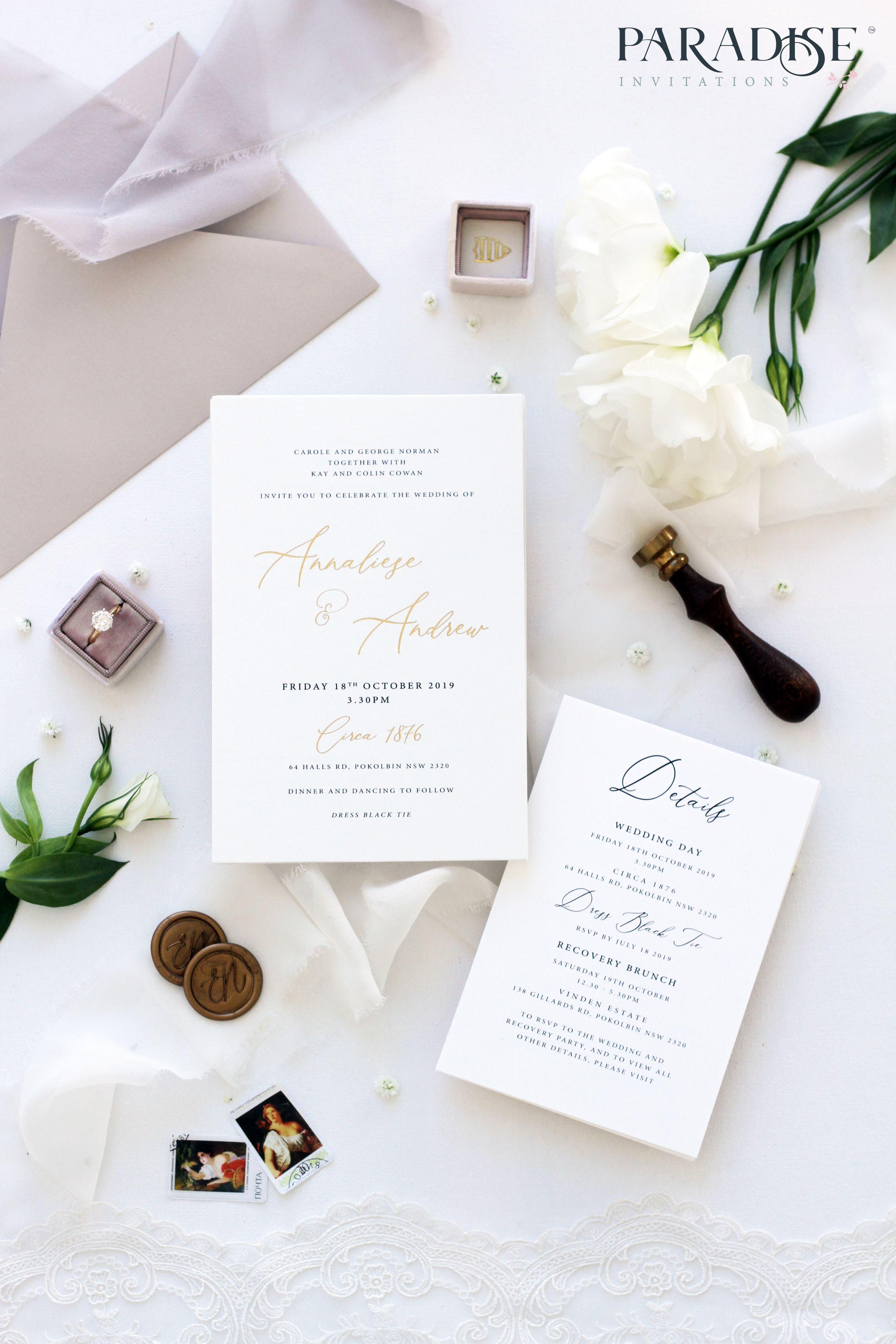 Euphrasie Golden Foil Wedding Invitation Wedding Invitation Weddinginv Foil Wedding Invitations Free Wedding Invitation Samples Colorful Wedding Invitations