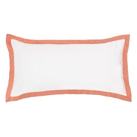 The Linden Coral Throw Pillow