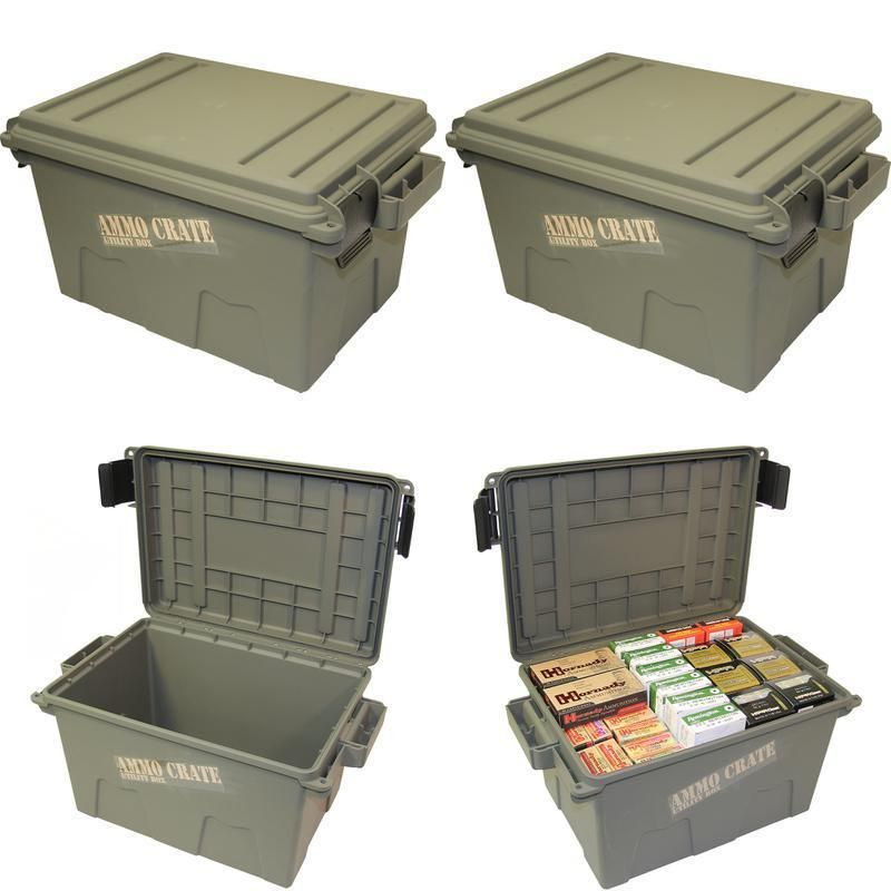 Ammo Crate Utility Box Shotgun Ammunition Waterproof Storage Container Case  New