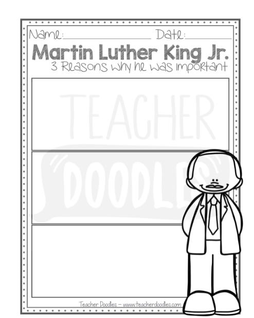 FREEBIE: 3 Reasons MLK | Becoming a teacher, Writing ...