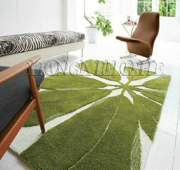 Cheap stile europeo ikea tappeto fatto a mano foglie