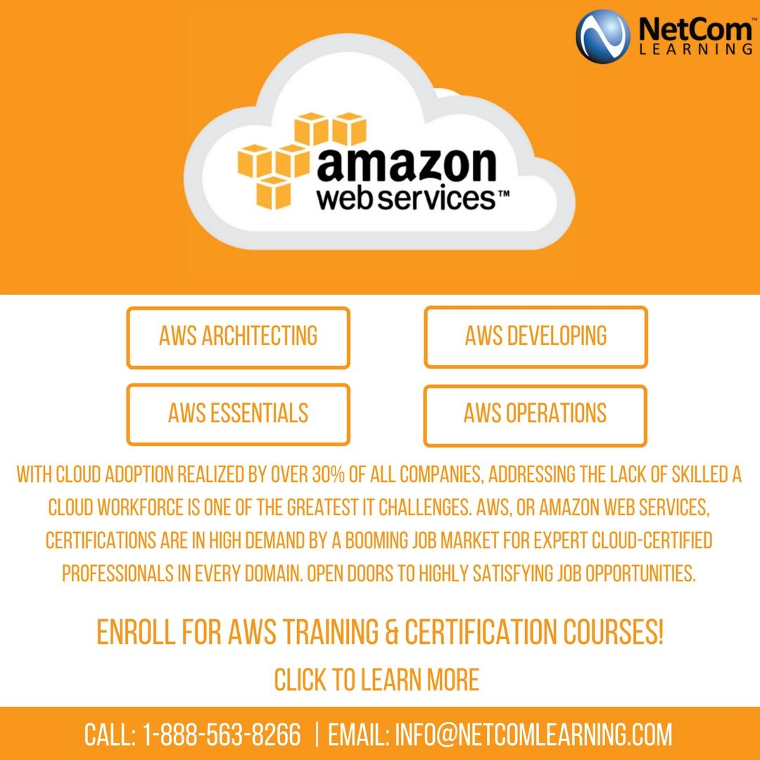 Become An Aws Certified Cloud Professional With Netcom Learning Aws